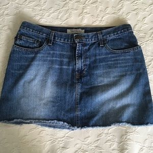 ABERCROMBIE & FITCH Short Blue Jean Skirt Size 10